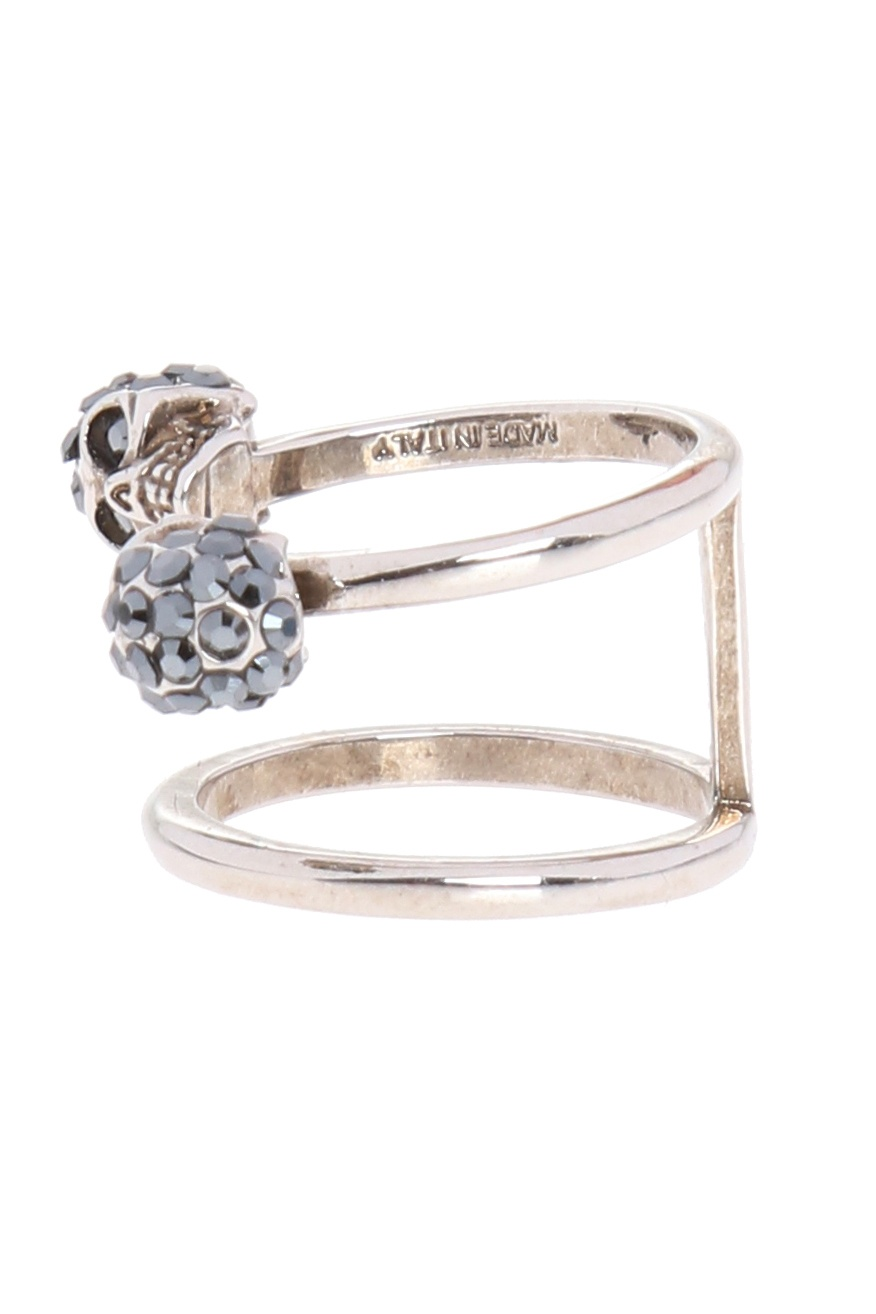 Alexander McQueen Ring with skulls
